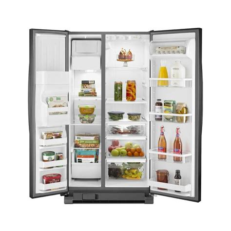 wrs325fdab whirlpool side by side refrigerator 25 0 cu ft
