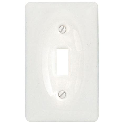 ceramic light switch cover plates amerelle classic ceramic 1 toggle wall plate white