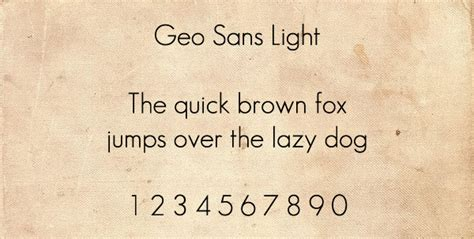 Geo Sans Light by 30 Free High Quality Sans Serif Fonts