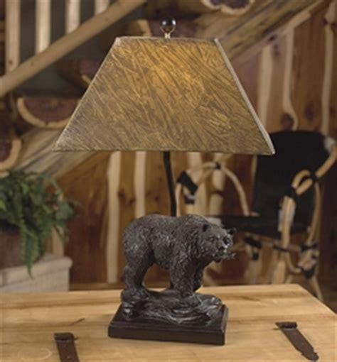 rustic cabin  bear table lamps