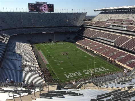 kyle field visitor section kyle field section 419 rateyourseats com
