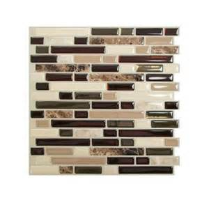 smart tiles 10 00 in x 10 06 in peel and stick mosaic decorative wall tile backsplash in