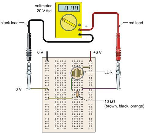 light sensor circuit light dependent resistor ldr iamtechnical