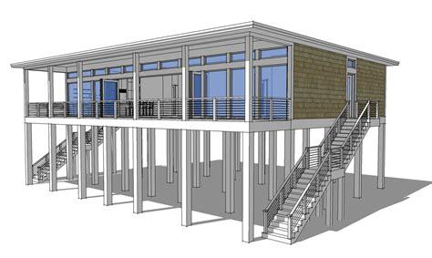 modern loft style house plans modern piling loft style home plan 44073td architectural designs house plans