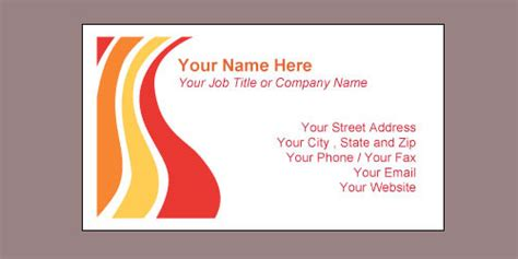 sle business card template word business cards ideas
