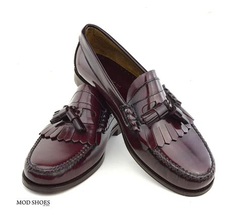 oxblood shoes oxblood tassel loafer the duke by modshoes mod shoes