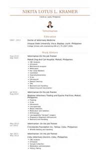 Veterinarian Resumes by V 233 T 233 Rinaire Exemple De Cv Base De Donn 233 Es Des Cv De Visualcv
