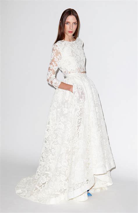 bridal fashion trend two piece wedding dress arabia