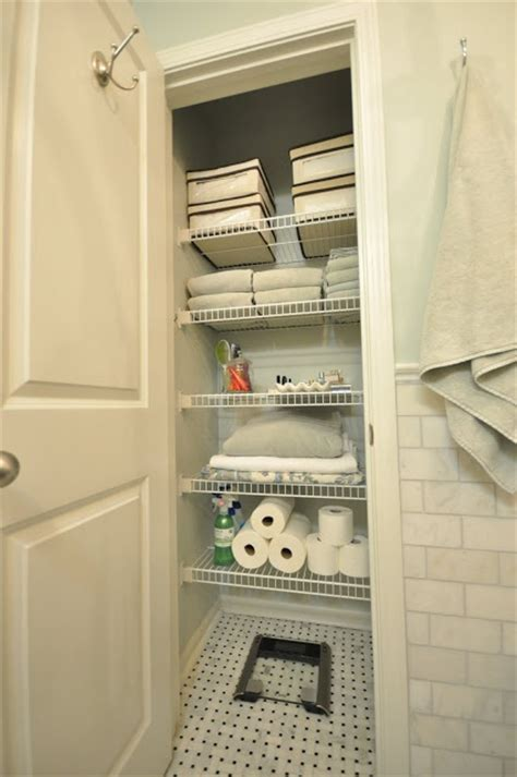 Small Bathroom Closet Ideas Bathroom Closet Organization Pinterest