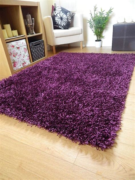 purple rugs new small large silky purple rugs shaggy sparkle circle area rug ebay
