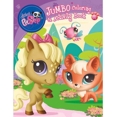 lps coloring book littlest pet shop jumbo coloring and activity book