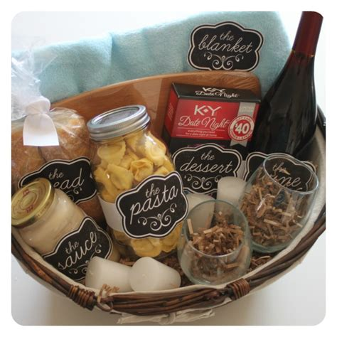 date night gift basket idea with free printables ad
