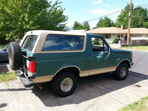 how cars run 1990 ford bronco regenerative braking 1990 ford bronco eddie bauer 4x4 new tires removable top air pw pd classic ford bronco 1990