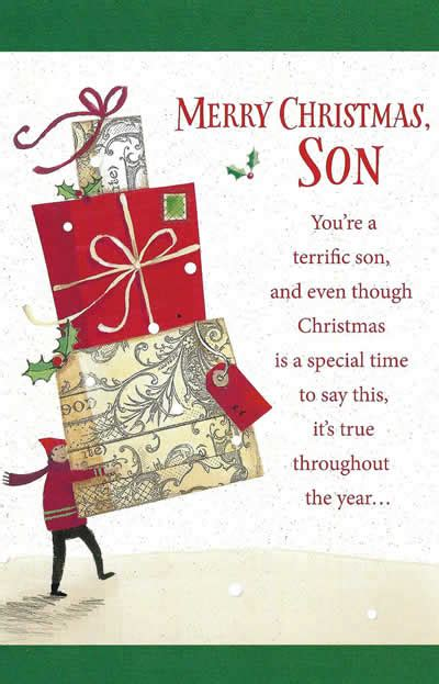 merry christmas son fun custom christmas card funky delivery