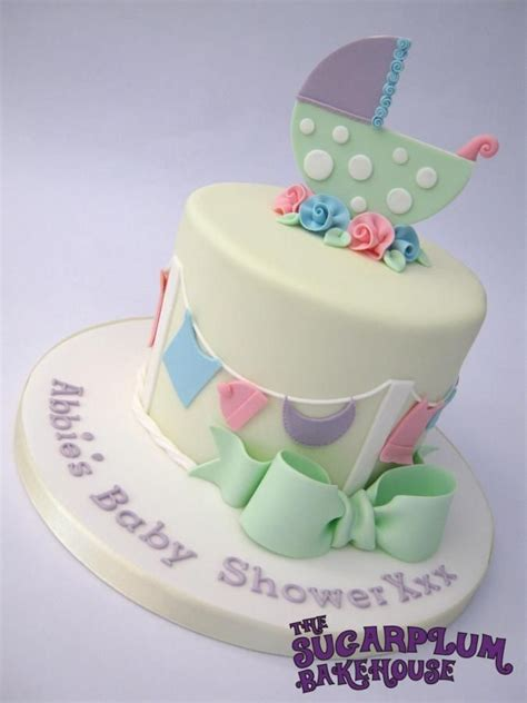 Unisex Baby Shower Cake by Unisex Neutral Baby Shower Cake Cake By Sam Harrison
