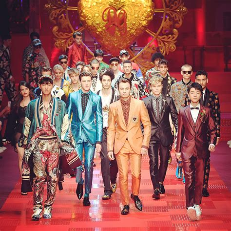 Who Wore Dolce Gabbana Better George Or Rowland by Reality Take To The Runway For Dolce Gabbana