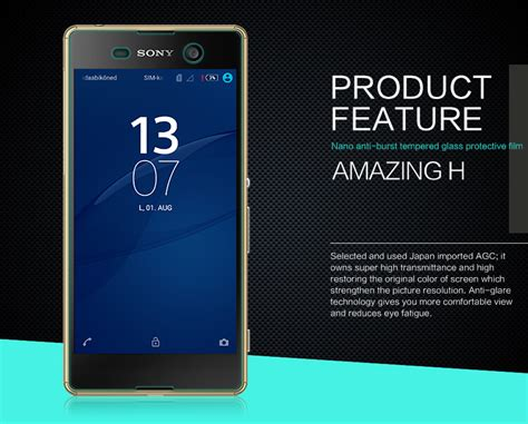 Diskon Tempered Glass Sony Experia M5 Magic Glass Original nillkin amazing h tempered glass screen protector for sony