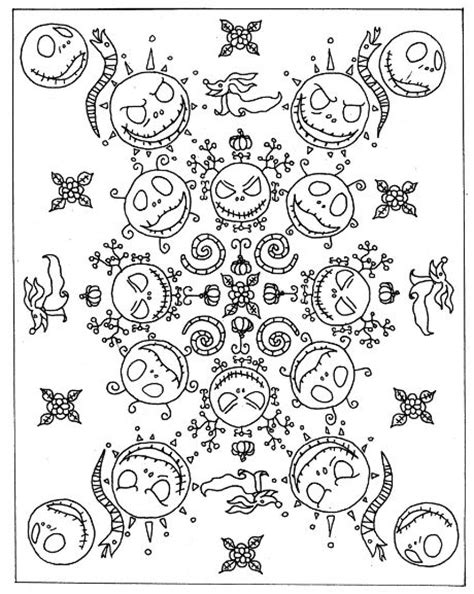 nightmare before coloring book 1000 ideas about mandala printable on