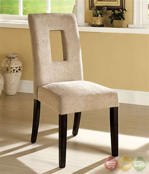 Fabric Chair Dining Set Grandam I Contemporary Espresso Casual Dining Set With Padded Fabric Chair Cm3127