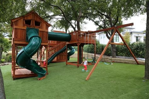 Bridged Wooden Swing Sets   Backyard Fun Factory