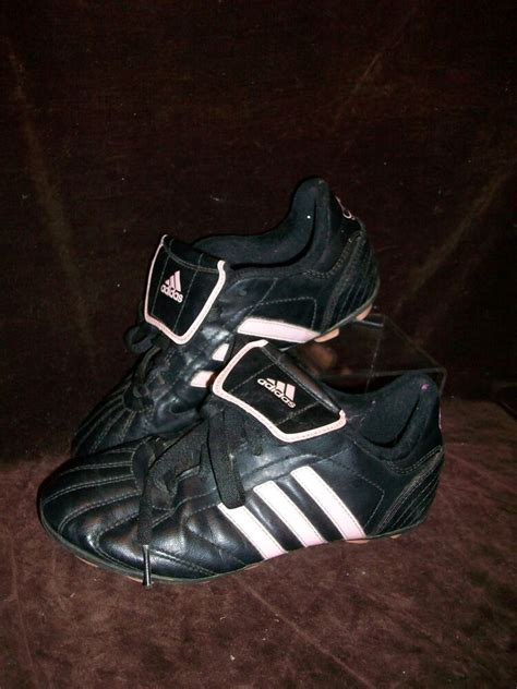 adidas size 2 5 soccer softball cleats shoes pink black ebay