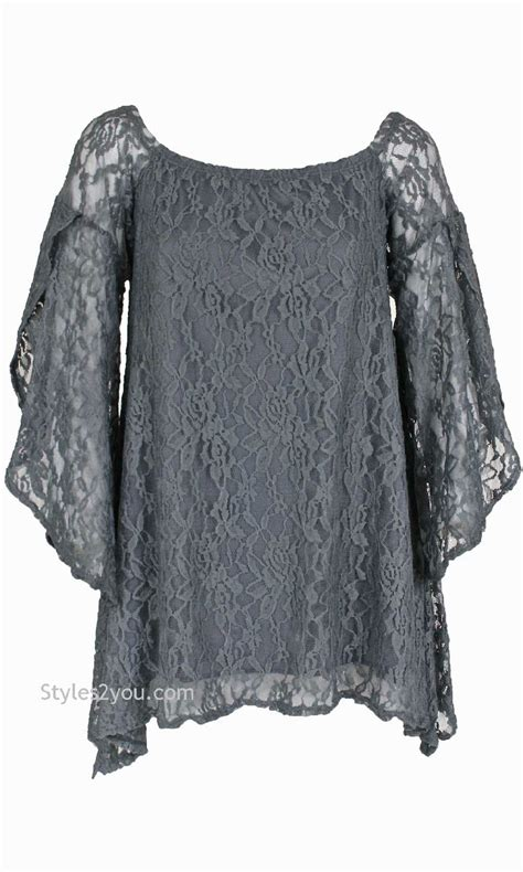 Blouse Lace Grey lace blouse in gray verducci clothing lace blouse