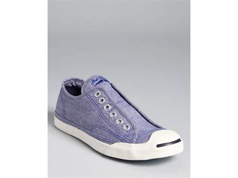 purcell slip on sneakers converse purcell sneakers slip on chambray in blue
