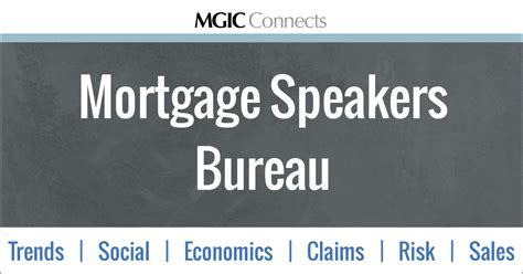 speakers bureau mortgage speakers bureau mgic connects