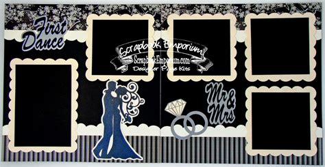 wedding dance layout blj graves studio first dance wedding scrapbook pages