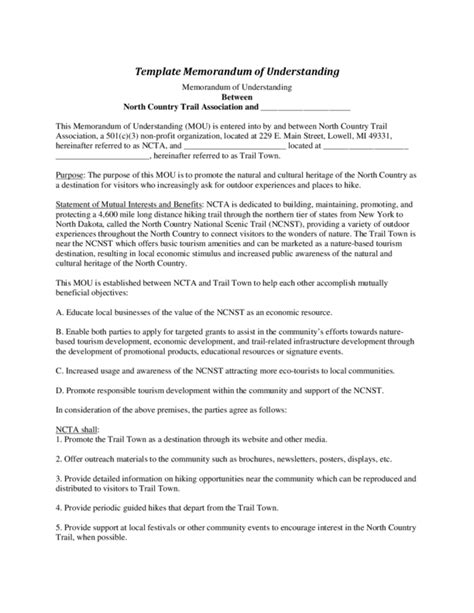disability policy template mou template 28 images memorandum of understanding