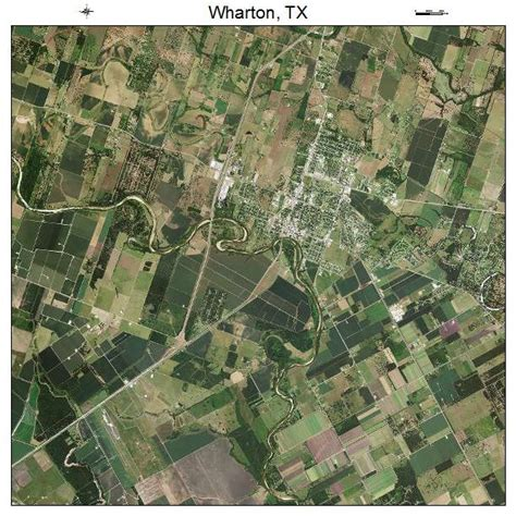 wharton texas map aerial photography map of wharton tx texas