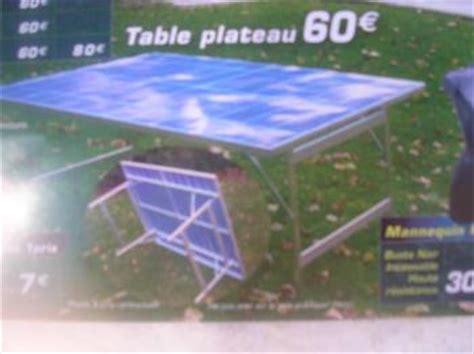 table forain table forain en alu klook destockage grossiste