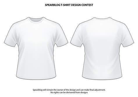 White Shirt Template by Vector T Shirt Templates Models Picture