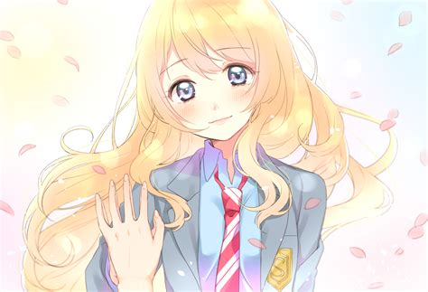anime your lie in april kaori miyazono full hd wallpaper and background