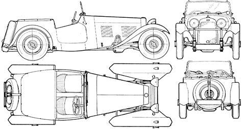 car plans hrg sports car 1948 blueprint download free blueprint