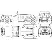 HRG Sports Car 1948 Blueprint  Download Free