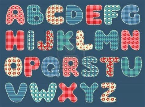 Patchwork Letters - quilt alphabet set patchwork letters vector quilt blocks