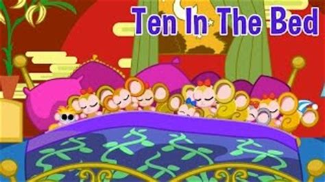 ten in the bed lyrics ten in the bed aka roll over nursery rhyme with lyrics animated counting