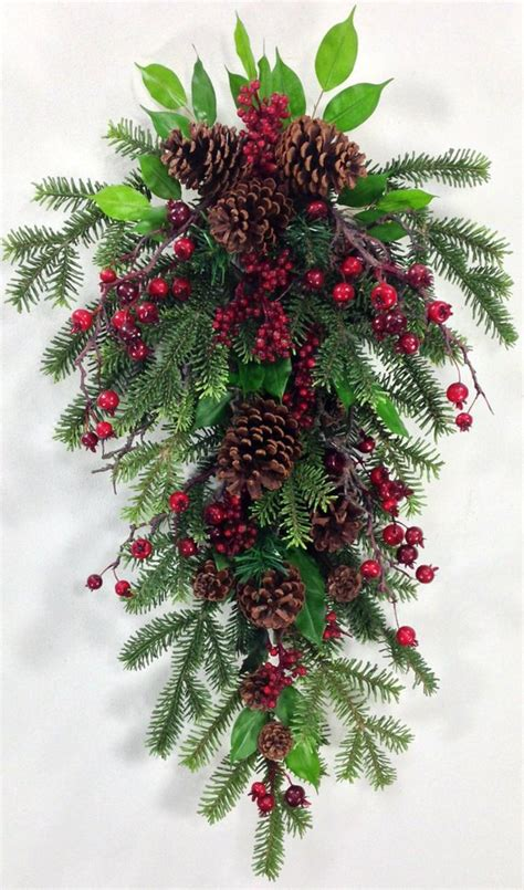 christmas door swag ideas swag swag wreath
