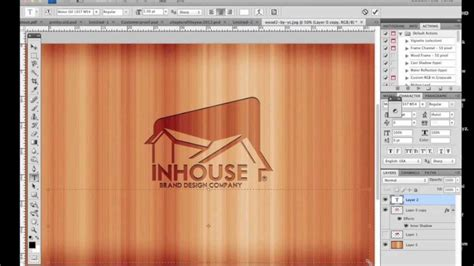 photoshop tutorial logo in wood photoshop tutorial how to make a logo in wood youtube