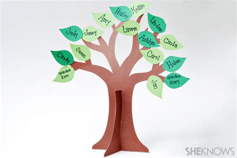 How To Make A 3d Tree Out Of Paper - 3 family tree ideas for women s history month