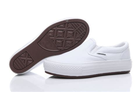converse loafers converse all slip on low top white platforms loafers