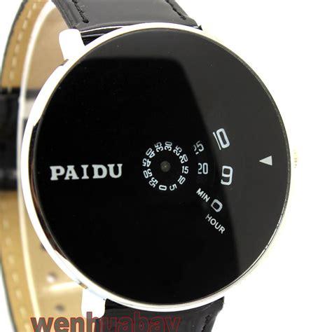 paidu wrist dress watches hour clock leather