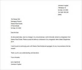 Cancellation Of Resignation Letter by Resignation Letter Template 43 Free Word Pdf Format