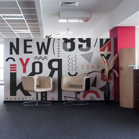 Modern Wall Murals by Modern Wall Mural In Office Reception Sbw Graphics