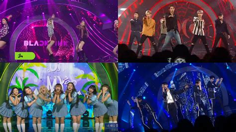black pink dan exo video exo hold off black pink to take inkigayo win for