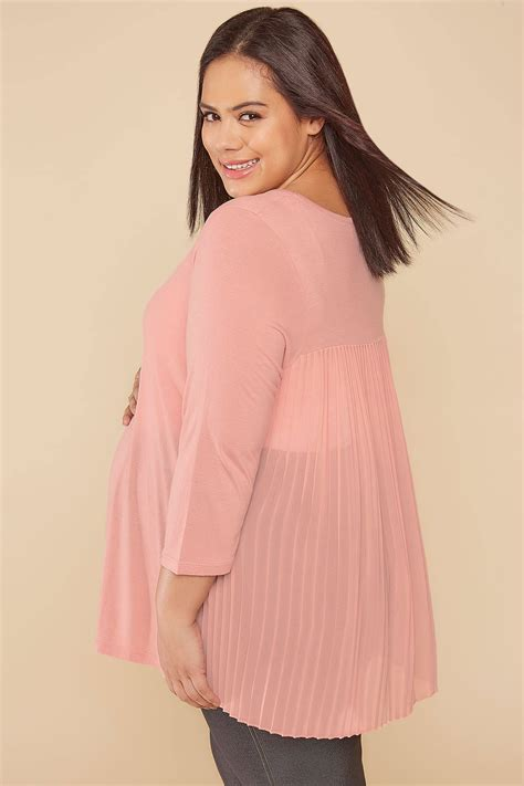 Does A Temporary Restraining Order Show Up On A Background Check Bump It Up Maternity Dusky Pink Top With Pleated Back Plus Size 16 To 32