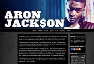 rap artist bio template websites for musicians and bands create a website