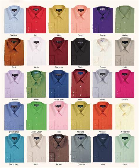 color shirt s cotton blend plain solid dress shirt all colors