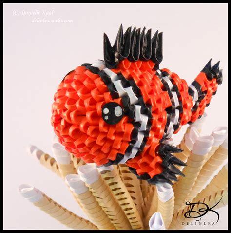 3d Origami Nemo Fish Ikan Nemo clownfish 3d origami by delinlea on deviantart